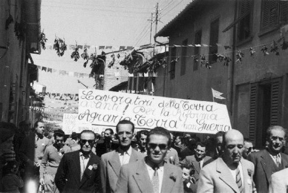 Manifestazione per la riforma agraria
