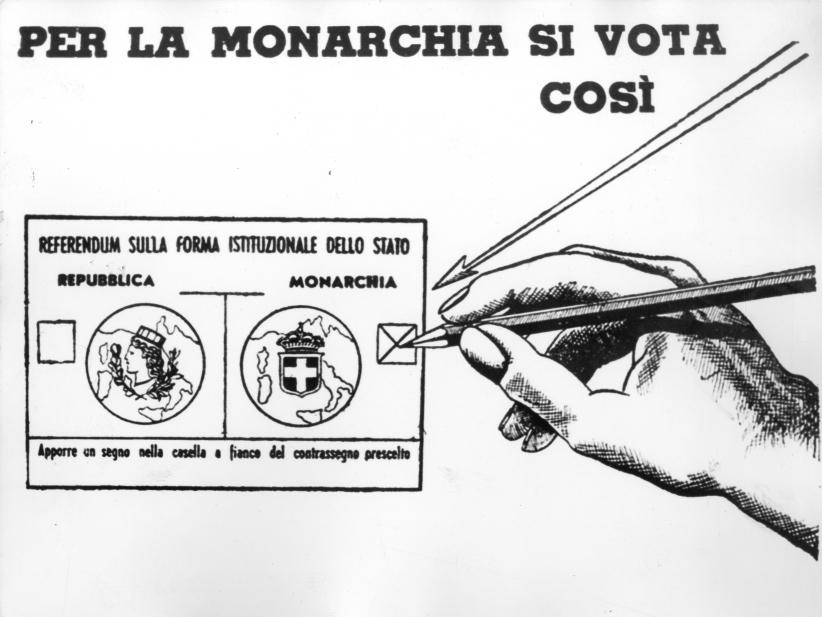 Propaganda monarchica per il referendum