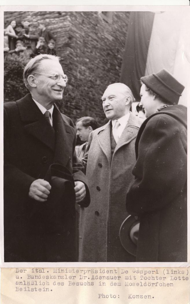 Alcide De Gasperi e Konrad Adenauer, anni cinquanta