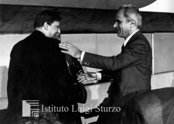 Pietro Scoppola e Beniamino Andreatta