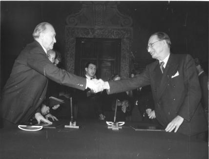 1953 - Roma - DG e Adenauer